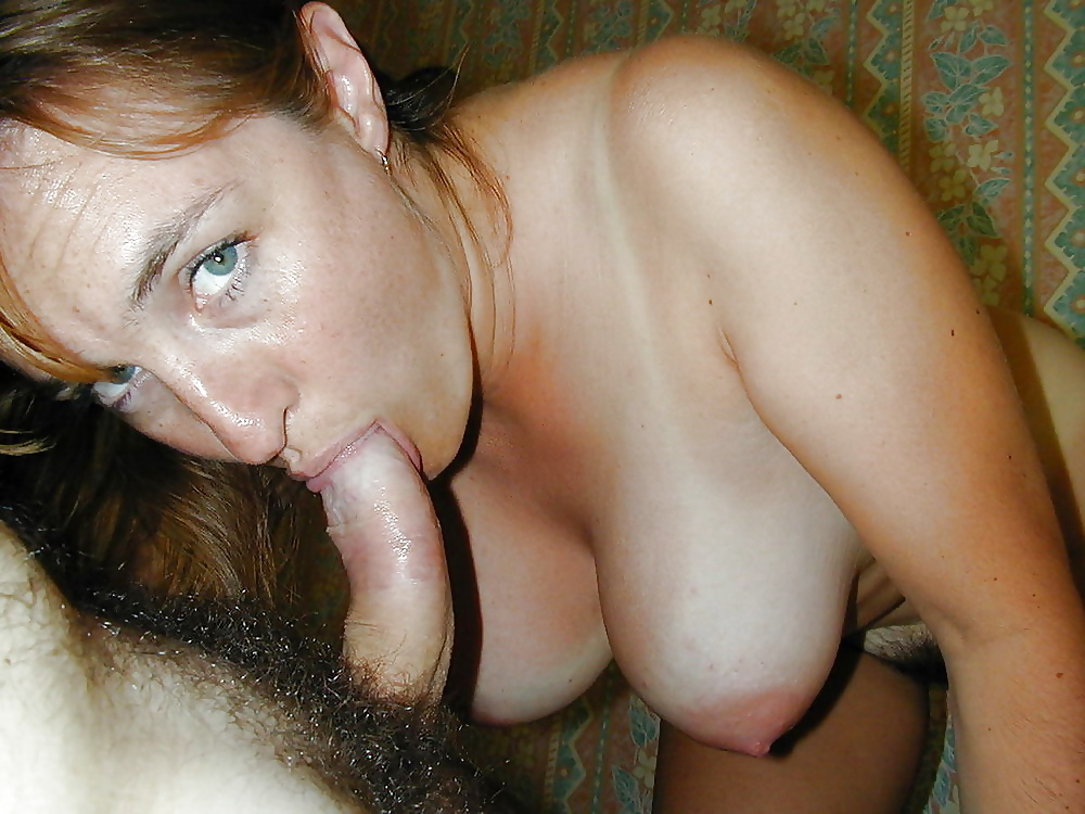 Wife flashes pussy